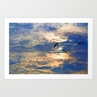Up Early With The Birds Art Print