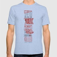Fear Mens Fitted Tee Athletic Blue SMALL