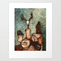 DressForm Deer #2 Art Print
