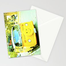 Happy, yellow car. Stationery Cards