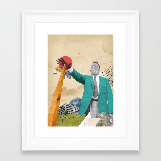 S-OTTO / BELOW Framed Art Print