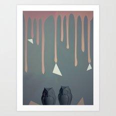 Owl Abstraction Art Print