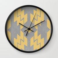 Concrete & Aztec Wall Clock