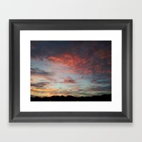 Speckled Sky Framed Art Print