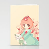 pixel cakeroll Stationery Cards