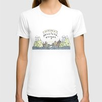 We Belong In Portland Womens Fitted Tee White SMALL