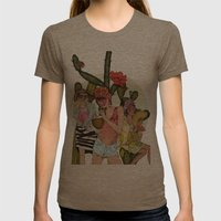 Hot N' Steamy Womens Fitted Tee Tri-Coffee SMALL