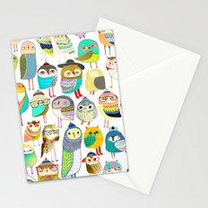 Owls. owl illustration, owl art, owl decor, pattern, art, design, animal, nature, kids, children,  Stationery Cards