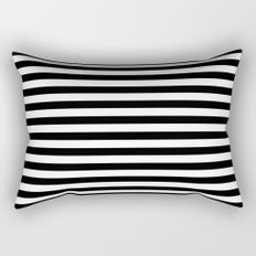 Modern Black White Stripes Monochrome Pattern Rectangular Pillow