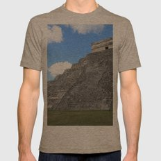 Chichen Itza Temple of Kukulcan south-west View Mens Fitted Tee Tri-Coffee SMALL