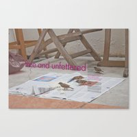 Free and unfettered  Canvas Print