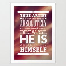 Be yourself Art Print