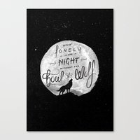 How Lonely The Night Canvas Print