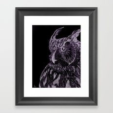 Inverted Horned Owl Framed Art Print