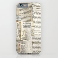 Vintage Paper Scraps iPhone 6 Slim Case