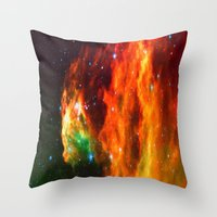 Spaceplosion Throw Pillow