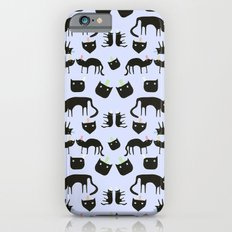 Crazy Cats with colorful hats, pattern iPhone 6 Slim Case