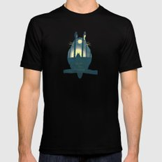 Totoro ' s Dream  Black Mens Fitted Tee SMALL