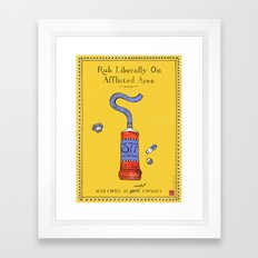 Gay Ointment: LGBT Poster (Yellow) Framed Art Print