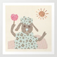 Sheep Collage Art Print