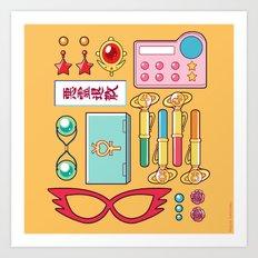 Inner Senshi Starter Kit  Art Print