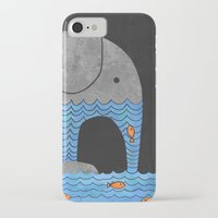 retro iPhone & iPod Cases featuring Thirsty Elephant  by Terry Fan