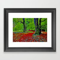 Fantasy Woodland Framed Art Print