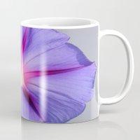 Close Up of A Morning Glory Purple and Pink Flower Mug