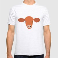 Cow-mor orange Mens Fitted Tee Ash Grey SMALL