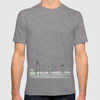 Bleached Beach Mens Fitted Tee Tri-Grey SMALL