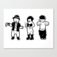 Gangster Babies. Canvas Print