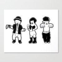 Gangster babies. Canvas Print