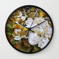 Mascarade I Wall Clock
