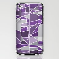 Purple And Grey iPhone & iPod Skin