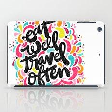EAT & TRAVEL iPad Case