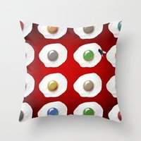 Disco Breakfast Throw Pillow