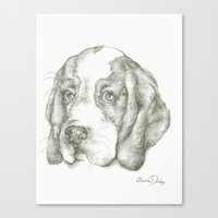 Blueberry the Beagle Canvas Print