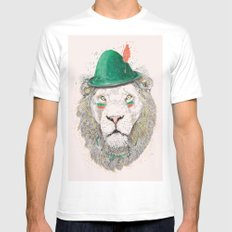 Peter SMALL White Mens Fitted Tee