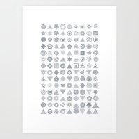 TypeFlakes A Art Print