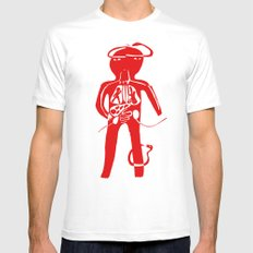 body SMALL Mens Fitted Tee White
