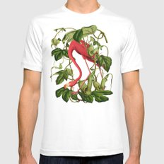 Flamingo SMALL Mens Fitted Tee White