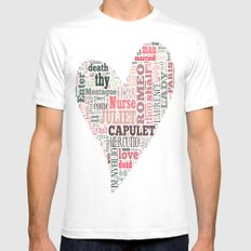 Shakespeare's Romeo and Juliet Heart Mens Fitted Tee White SMALL