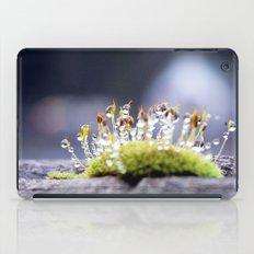 Maco photography Moss Water Drop Rain drops dew Green nature photography iPad Case