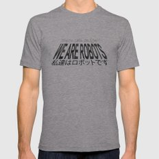 We Are Robots Mens Fitted Tee Athletic Grey SMALL