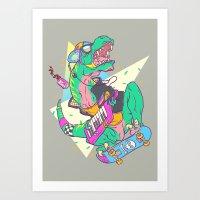 Ju-RAD-ssic Park Art Print