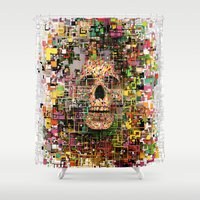 White Noise Shower Curtain