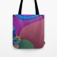 Wet Paint Fractal  Tote Bag