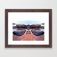 Reflection Of Short Rock Framed Art Print