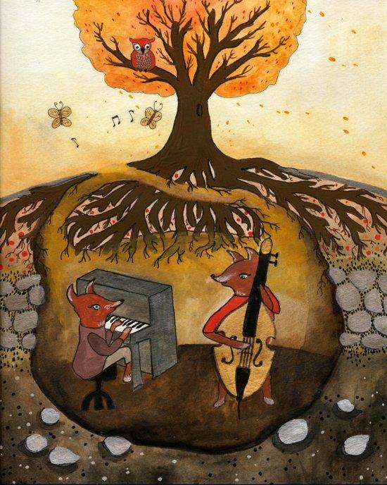 Fox Jam  Canvas Print