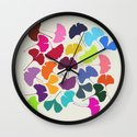 Ginkgo Multicolor Wall Clock